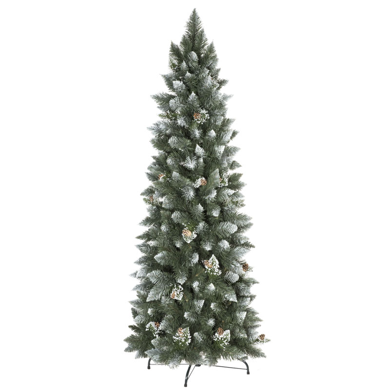 Artificial Christmas Tree Natural White Frosted Pine Slim