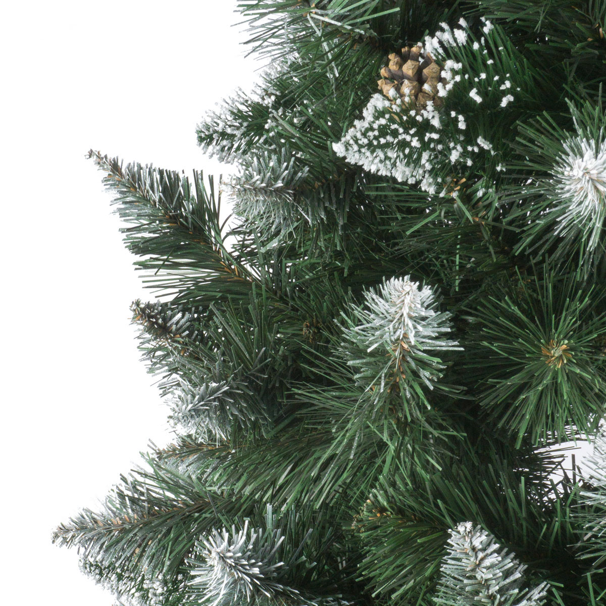 Frosted Slim Christmas Tree: Artificial Christmas Tree Natural White Frosted Pine Slim