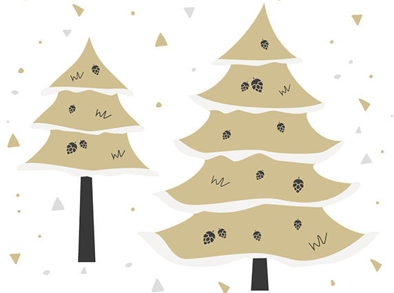 How are artificial Christmas trees decorated?