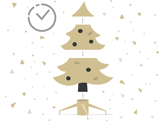 How long does it take to set up a Christmas tree?