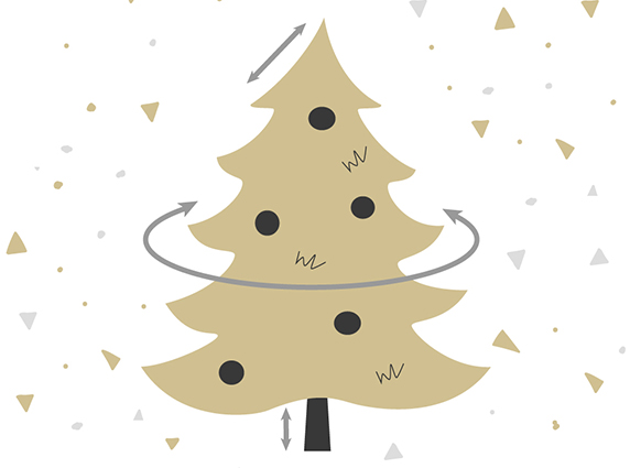 What are the dimensions of the Christmas tree How long is the tip?
