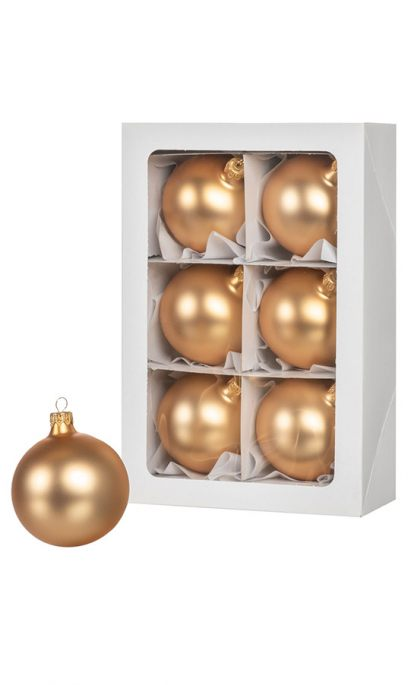 gold christmas balls set