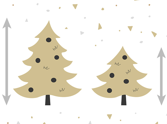 What are the different sizes of FairyTrees Christmas trees?