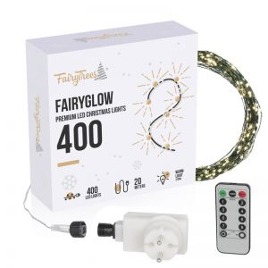 FairyGlow 400 LED Christmas tree lights