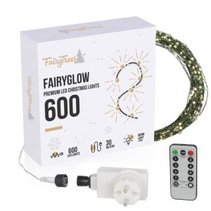 FairyGlow 600 LED Christmas tree lights